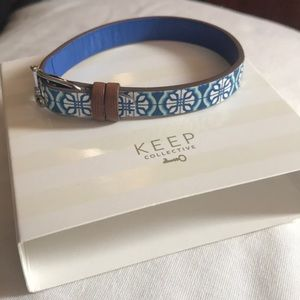 Lighted Blue Leather Band